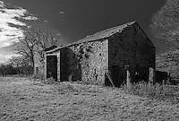 Derelict out-barn, Dinkling Green, Whitewell, Clitheroe, Lancashire.