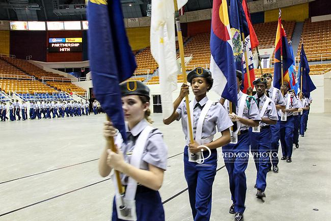 2015 CMS ROTC Awards ceremony held at Bojangles Coliseum. Sponsored by AT&T and Carolinas Freedom Foundation.