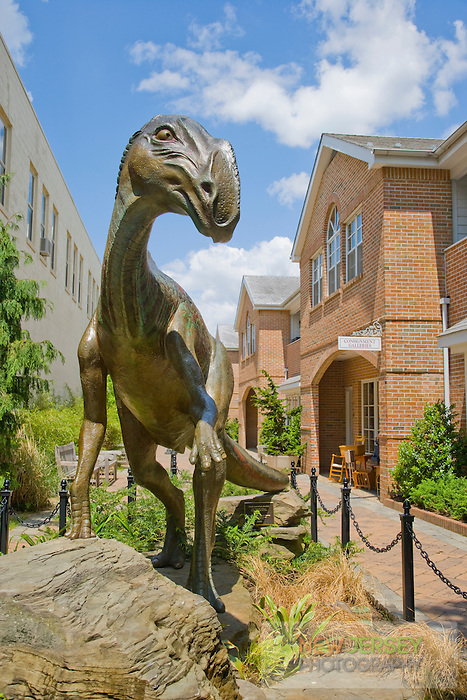 Bronze Hadrosaurus Dinosaur Sculpture, Main Street, Haddonfield, New Jersey