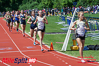 Anna West runs to victory in the 1600 while teammate Sarah Nicholson finished 2nd, and Marquette's Hannah Pierson and Danielle Mohrmann went 3-4 at the 2016 MSHSAA Class 5 District 2 Track and Field Meet at Ladue High School, St. Louis, Saturday, May 14.