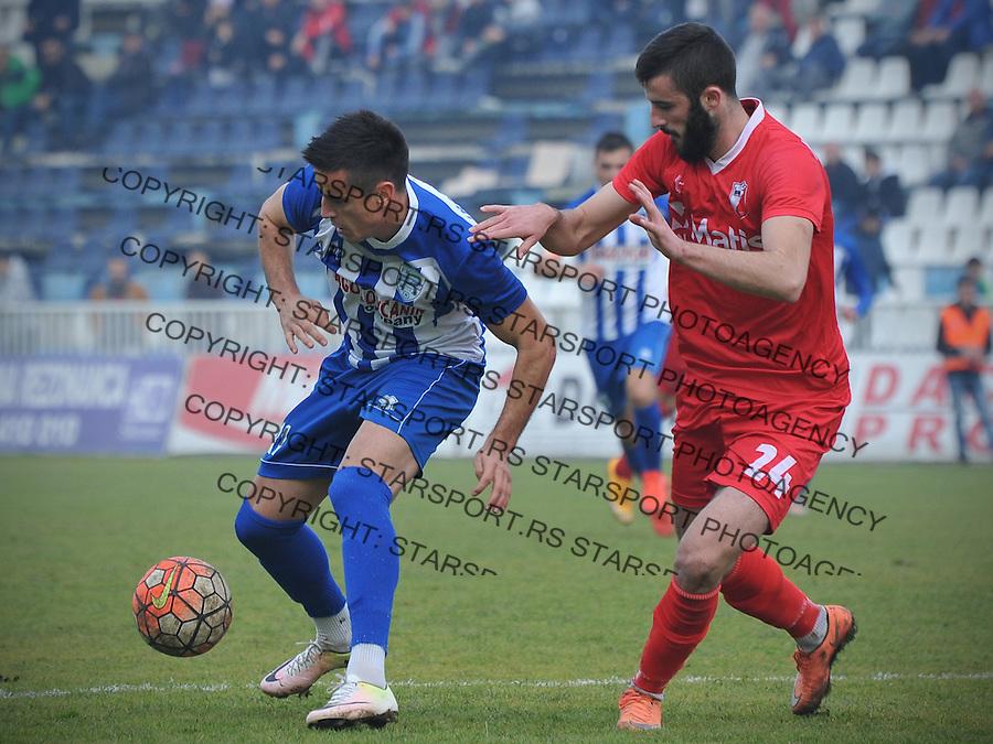 Fudbal Jelen Super League season 2016-2017<br /> Novi Pazar v Javor<br /> Aleksandar Djokovic (L) i Aleksa Amanovic (D)<br /> Novi Pazar, 26. 11. 2016<br /> foto: Emir Sadovic/Starsportphoto &copy;