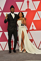 LOS ANGELES, CA. February 24, 2019: Regina King &amp; Mahershala Ali at the 91st Academy Awards at the Dolby Theatre.<br /> Picture: Paul Smith/Featureflash