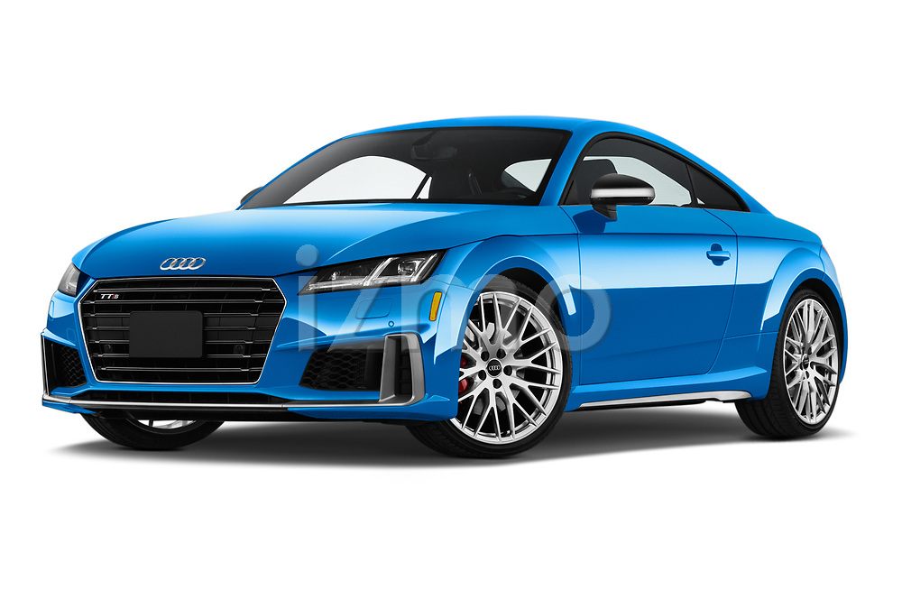 Stock pictures of low aggressive front three quarter view of a 2019 Audi TTS-Coupe Base 3 Door Coupe