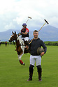 Tyrella House Polo players Richard Suitor (riding left) and Jamie McCarthy (standing) at Tyrella House, County Down, Monday June3rd, 2019. (Photo by Paul McErlane for Belfast Telegraph)