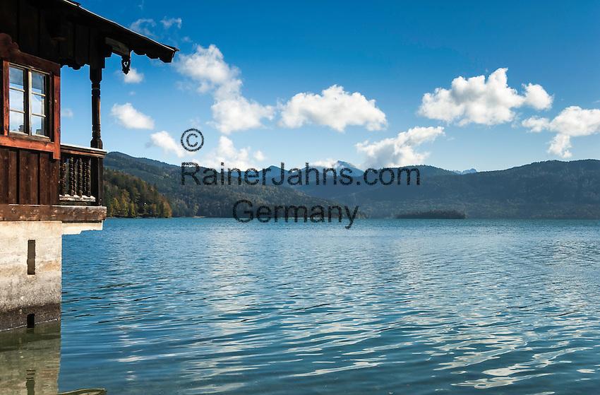 Germany, Bavaria, Upper Bavaria, Toelzer Land, Urfeld: at Lake Walchensee | Deutschland, Bayern, Oberbayern, Toelzer Land, Urfeld: am Ufer des Walchensee