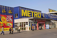 A supermarket of German Metro in Harbin, Heilongjiang province, China. German Metro, which is ranked third in size after the US- based Wal-Mart and France-based Carrefour, has opened 10 supermarkets in other cities in China including Shanghai, Chongqing, Wuhan, Fuzhou, Nanjing and Qingdao since the German company started to invest in China in 1995..28 Nov 2005