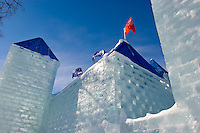 Quebec City ? February 14, 2008. The Ice castle of the Quebec winter carnival is pictured Thursday 14, 2008.