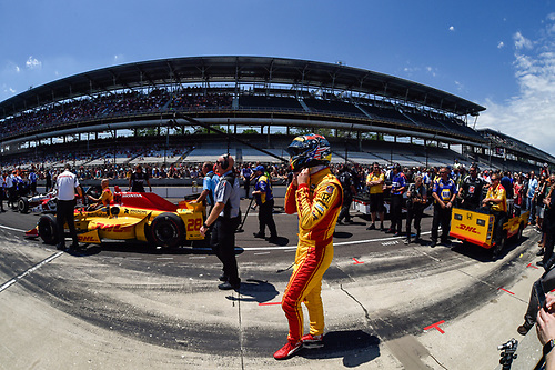 Verizon IndyCar Series<br /> Indianapolis 500 Carb Day<br /> Indianapolis Motor Speedway, Indianapolis, IN USA<br /> Friday 26 May 2017<br /> Ryan Hunter-Reay, Andretti Autosport Honda during the pit stop competition<br /> World Copyright: Scott R LePage<br /> LAT Images<br /> ref: Digital Image lepage-170526-indy-9751