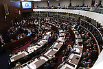 U.S. Senate Majority Leader Harry Reid addresses a joint session of the Legislature, in Carson City, Nev., on Wednesday, Feb. 20, 2013. .Photo by Cathleen Allison