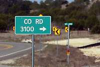 Road sign near our home in the Texas Hill Country, during our drought. The last right turn before you the there..
