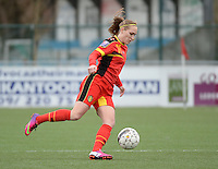 20140208 - OOSTAKKER , BELGIUM : Belgian Janice Cayman pictured during a friendly soccer match between the women teams of Belgium and Poland , Saturday 8 February 2014 in Oostakker. PHOTO DAVID CATRY