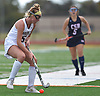 Grace Kelly #5 of Garden City looks to pass during the Nassau County varsity field hockey Class B final against Cold Spring Harbor at Berner Middle School in Massapequa on Sunday, Oct. 28, 2018. She scored four goals to lead Garden City to a 5-1 win.
