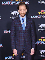 10 October  2017 - Hollywood, California - Tom Hiddleston. World Premiere of &quot;Thor: Ragnarok&quot; held at The El Capitan Theater in Hollywood. <br /> CAP/ADM/BT<br /> &copy;BT/ADM/Capital Pictures