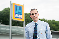 Thursday  21 July 2016<br /> Pictured: Store Manager David Young<br /> Re: ALDI Haverfordwest Grand Re-opening