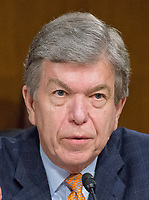 United States Senator Roy Blunt (Republican of Missouri), questions the witnesses during the US Senate Select Committee on Intelligence open hearing titled &quot;Disinformation: A Primer in Russian Active Measures and Influence Campaigns&quot; on Capitol Hill in Washington, DC on Thursday, March 30, 2017.<br /> Credit: Ron Sachs / CNP /MediaPunch