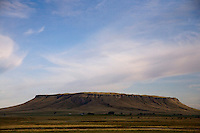 A view of Square Butte near Ulm, Montana, USA.