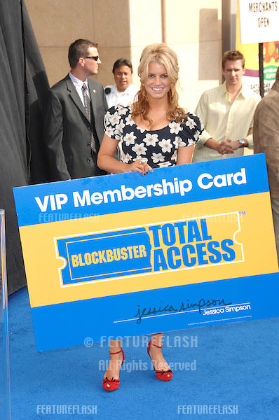 JESSICA SIMPSON at the launch of Blockbuster Total Access video rental service in Hollywood..November 2, 2006  Los Angeles, CA.Picture: Paul Smith / Featureflash