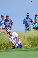 Scott Piercy (USA) hits from the trap on 11 during Thursday's round 1 of the 117th U.S. Open, at Erin Hills, Erin, Wisconsin. 6/15/2017.<br /> Picture: Golffile | Ken Murray<br /> <br /> <br /> All photo usage must carry mandatory copyright credit (&copy; Golffile | Ken Murray)