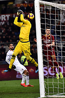 Gianluigi Donnarumma of AC Milan  misses the ball during the Serie A 2018/2019 football match between AS Roma and AC Milan at stadio Olimpico, Roma, February 3, 2019 <br />  Foto Andrea Staccioli / Insidefoto
