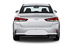 Straight rear view of a 2018 Hyundai Sonata Limited 4 Door Sedan stock images