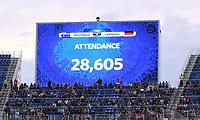 FUSSBALL FIFA Confed Cup 2017 VORRUNDE IN SOTCHI   Australien - Deutschland                           19.06.2017 Anzeigetafel mit der Anzeige: ATTENDANCE 28,605