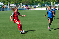 Kansas City, MO - Saturday May 13, 2017: Celeste Boureille, Sydney Leroux during a regular season National Women's Soccer League (NWSL) match between FC Kansas City and the Portland Thorns FC at Children's Mercy Victory Field.