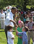 U.S. President Barack Obama greets children during the 2011 White House Easter Egg Roll in Washington D.C. April 25, 2011..Copyright EML/Rockinexposures.com.