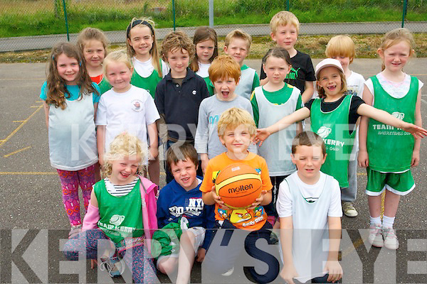 Having fun at the Team Kerry Basketball camp in Tralee last week. .Front L-R Grace Reidy, Luke Griffin, Evan Casey and Shane Lawless. .Middle L-R Orla O'Connor, Anna McCarthy, Seamus Paul Lucey, Aodhan Morrison, Aoife Sweeney, Oscar Morrison and Roisin Rahilly. .Back L-R Saidhbh Morrison, Shonegh and Rachel Griffin, David Lucid, Sean  Cloghessey and Abby Leahy.