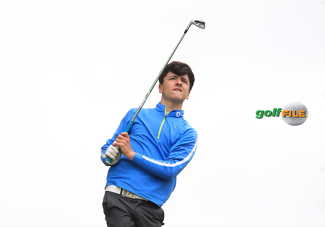 Gabriel Gribben (Fortwilliam) on the 7th tee during Round 2 of the Irish Boys Amateur Open Championship at Tuam Golf Club on Wednesday 24th June 2015.<br /> Picture:  Thos Caffrey / www.golffile.ie