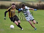 Na Piarsaigh David Boyle St Fechins Niall McCabe. Photo:Colin Bell/pressphotos.ie