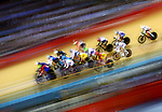 LONDON, ENGLAND - AUGUST 6:  A general view of the Women's Omnium 20km Points race during the Cycling Velodrome, Day 11 of the London 2012 Olympic Games on August 5, 2012 in London, England. (Photo by Donald Miralle)