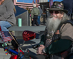 69-year-old John Jacobs from Reno during the Veterans Day Parade in downtown Reno on Sunday, November 11, 2018. John said attending the parade is heartwarming.  It shows pride in the US and love for our country.  He said he would serve again.