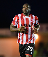 Lincoln City's John Akinde<br /> <br /> Photographer Chris Vaughan/CameraSport<br /> <br /> The Emirates FA Cup Second Round - Lincoln City v Carlisle United - Saturday 1st December 2018 - Sincil Bank - Lincoln<br />  <br /> World Copyright © 2018 CameraSport. All rights reserved. 43 Linden Ave. Countesthorpe. Leicester. England. LE8 5PG - Tel: +44 (0) 116 277 4147 - admin@camerasport.com - www.camerasport.com
