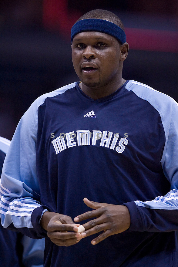 Zach Randolph..March 28, 2010 Milwaukee, WI. Bradley Center...Milwaukee Bucks won over the Memphis Grizzlies 108-103, in overtime.