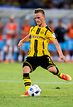 SHENZHEN - JULY 28: Borussia Dortmund striker Marco Hober in action during the match between Borussia Dortmund vs Manchester City FC at the 2016 International Champions Cup China match at the Shenzhen Stadium on 28 July 2016 in Shenzhen, China. (Photo by Power Sport Images/Getty Images)