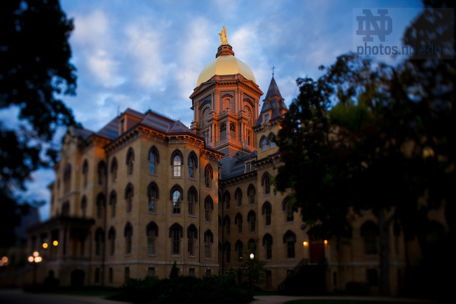 Main Building at Sunrise...Photo by Matt Cashore/University of Notre Dame