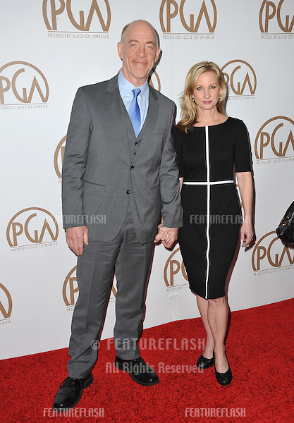 J.K. Simmons &amp; wife at the 26th Annual Producers Guild Awards at the Hyatt Regency Century Plaza Hotel.<br /> January 24, 2015  Los Angeles, CA<br /> Picture: Paul Smith / Featureflash