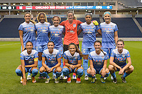 Chicago, IL - Wednesday Sept. 07, 2016: Chicago Red Stars Starting XI during a regular season National Women's Soccer League (NWSL) match between the Chicago Red Stars and FC Kansas City at Toyota Park.