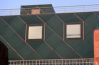 Los Angeles: Museum of Contemporary Art. Architect Arata Isozaki. Detail of wall. Photo '91.