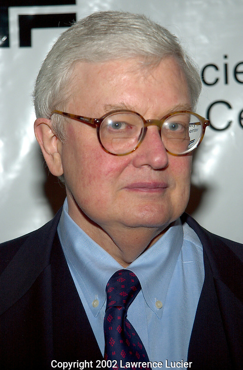 NEW YORK-DECEMBER 12: Film critic Roger Ebert arrives at Always A Natural: An Evening with Diane Lane December 12, 2002, at Walter Reade Theater in New York City.