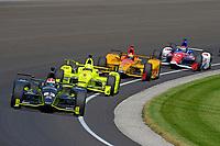 Verizon IndyCar Series<br /> Indianapolis 500 Carb Day<br /> Indianapolis Motor Speedway, Indianapolis, IN USA<br /> Friday 26 May 2017<br /> Charlie Kimball, Chip Ganassi Racing Teams Honda, Simon Pagenaud, Team Penske Chevrolet, Ryan Hunter-Reay, Andretti Autosport Honda, Carlos Munoz, A.J. Foyt Enterprises Chevrolet<br /> World Copyright: F. Peirce Williams