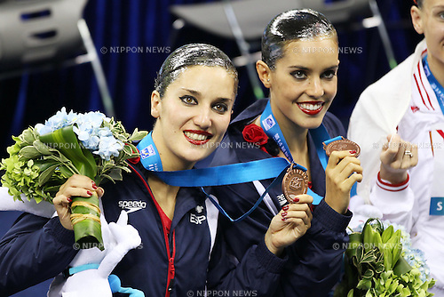 Ona Carbonell, Andrea Fuentes (ESP), July 22, 2011 - Synchronised Swimming : 14th FINA World Championships Shanghai 2011, Duet Free Routine Final at Oriental Sports Center Indoor Stadium, Shanghai, China. (Photo by Daiju Kitamura/AFLO SPORT) [1045]