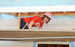 Alicia Witt at the Habitat For Humanity With Stars From Shamless and House Of Lies help build homes in Los Angeles, CA. October 25, 2014.