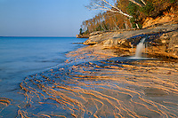 Pictured Rocks at Miners Beach<br /> Lake Superior<br /> Pictured Rocks National Lakeshore<br /> Upper Peninsula,  Michigan