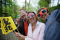 fans on the Taaienberg waiting for the riders to storm by<br /> <br /> Ronde van Vlaanderen 2014