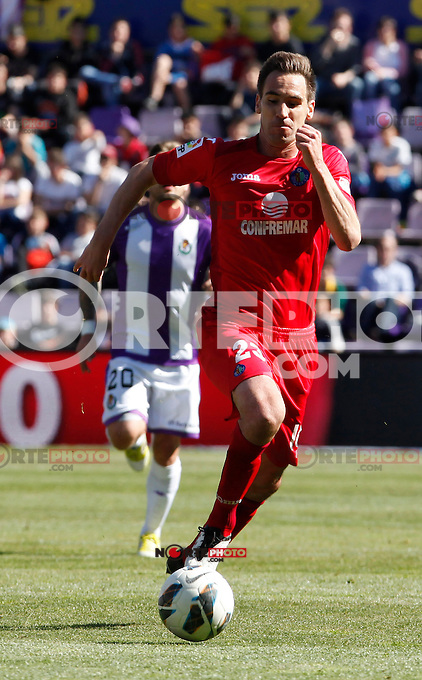 Real Valladolid V Getafe´s Borja Fernandez match during La Liga 2012-13. April 13, 2013 (Victor J Blanco/Alterphotos)