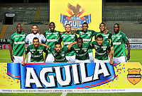 CALI -COLOMBIA-23-08-2015. Jugadores de Deportivo Cali posan para una foto previo al partido entre Deportivo Cali y Cúcuta Deportivo por la fecha 8 de la Liga Aguila II 2015 jugado en el estadio Deportivo Cali (Palmaseca) de la ciudad de Palmira. / Players of Deportivo Cali pose to a photo prior a match between Deportivo Cali and Cucuta Deportivo for the 8th date of the Liga Aguila II 2015 played at the Deportivo Cali (Palmaseca) stadium in Palmira city. Photo: VizzorImage/ Nelson Rios / Cont
