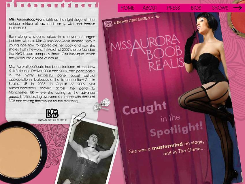 Website Design for Brown Girls Burlesque
