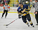 16 February 2008: Merrimack College Warriors' forward Francois Ouimet, a Freshman from Lorraine, Quebec, in action against the University of Vermont Catamounts at Gutterson Fieldhouse in Burlington, Vermont. The Catamounts defeated the Warriors 2-1 for their second win of the 2-game weekend series...Mandatory Photo Credit: Ed Wolfstein Photo
