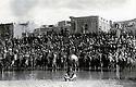 Iran 1946 .<br /> Gathering of people and riders in Mahabad during the Republic of Kurdistan .<br /> Iran 1946 .<br /> Rassemblement d'habitants et de cavaliers a Mahabad pendant la Republique du Kurdistan